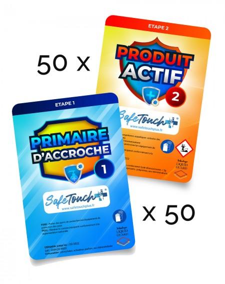 pack de 50 lingettes safe touch +