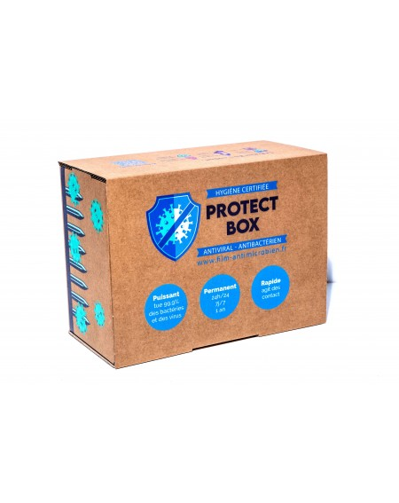 Protect Box L x 50 Kit de lingettes (Antimicrobien/Antiviral Efficace 1 an !)