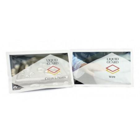 lingettes de liquid guard primaire d'accroche et produit actif