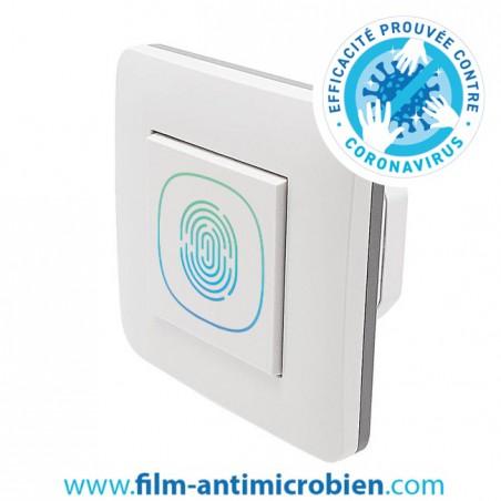 10 Stickers Antivirus et Antimicrobien pour interrupteur imprimés