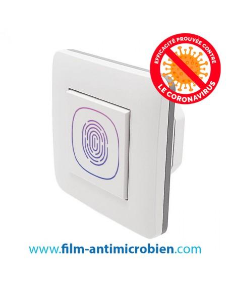 10 Stickers antimicrobiens imprimés pour interrupteurs