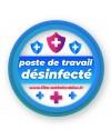 Stickers poste de travail désinfecté repositionnable Ecologique ! Film Antimicrobien Virus Protect