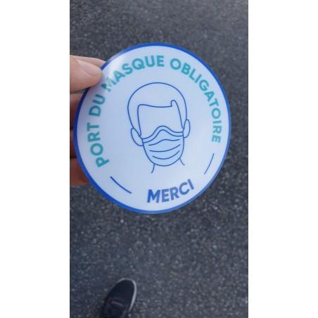 port du masque obligatoire français merci