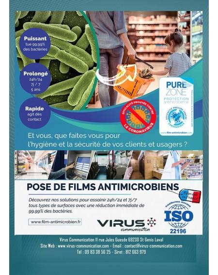 Pose de film Antimicrobien Virus protect Lyon