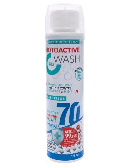 PhotoACTIVE Wash 70 lavages en bouteille de 200 ml, biocide permanent de traitement des textiles