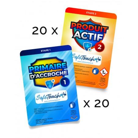 pack de 20 lingettes safe touch +