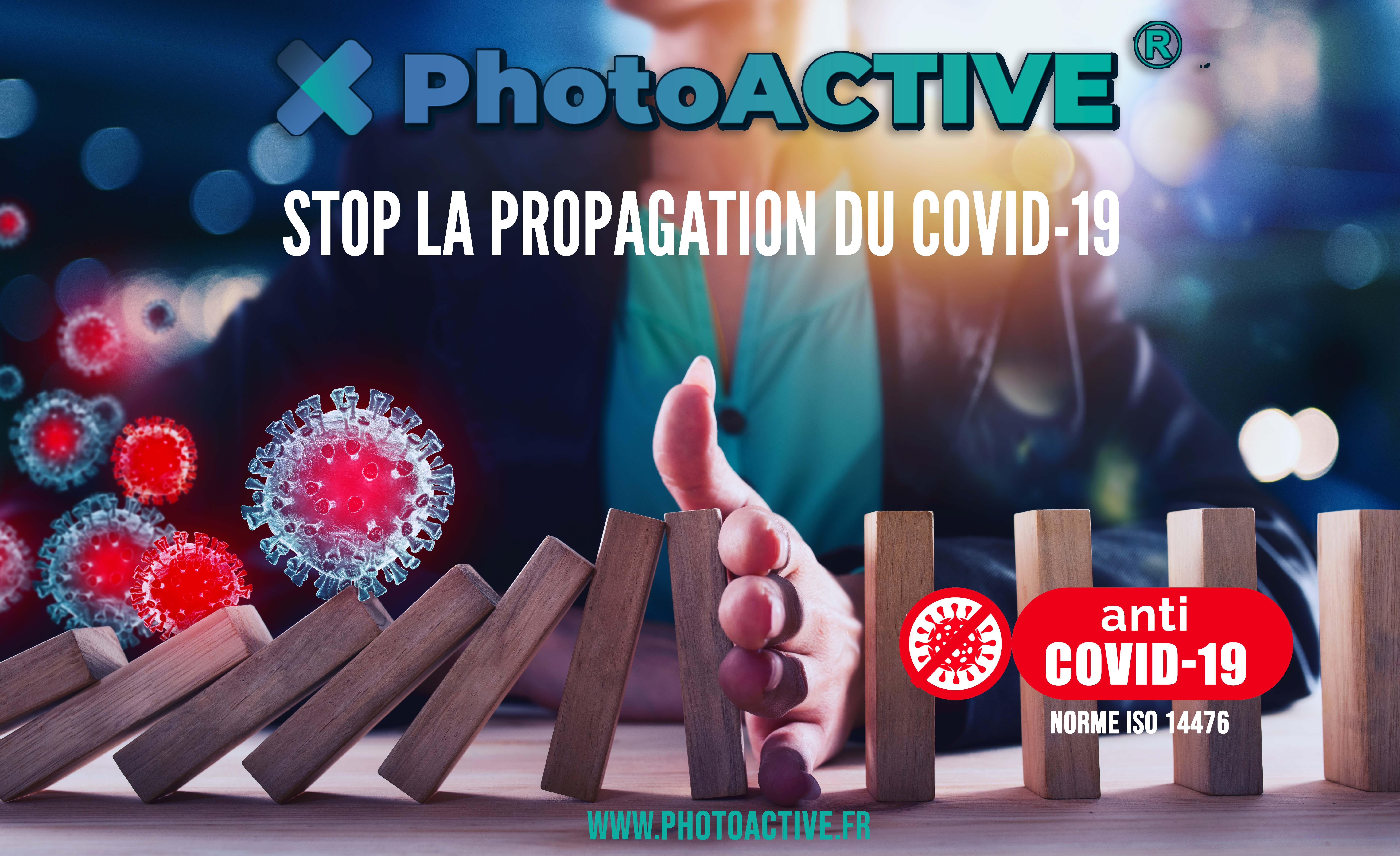 spray PhotoACTIVE anti covid 19, revêtement antimicrobien rémanent 1 an